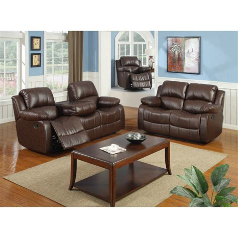quality furniture bonded leather  piece recliner