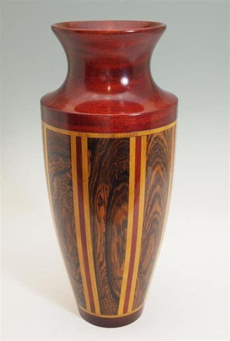 Turned Wood Vase - turned wood segmented vase