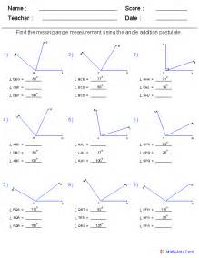 Find Missing Angles Worksheet Gallery For Gt Angle Addition Postulate
