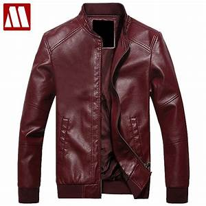 2016 New Fashion Mens stand collar motorcycle PU Leather ...