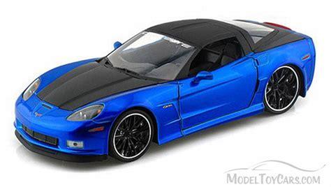 car toy blue 2006 chevy corvette z 06 hard top blue w black top