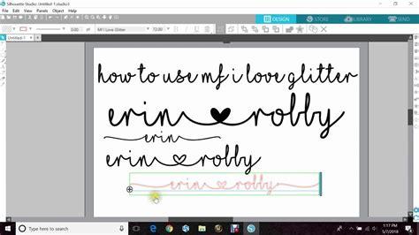 font mf  love glitter  love glitter font cricut tutorials silhouette tutorials