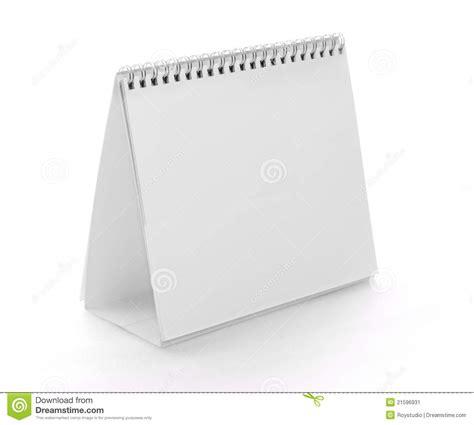 free standing desk calendar blank empty standing calendar isolated on white stock