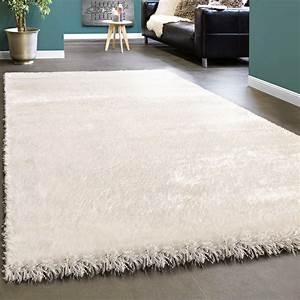 Langflor Teppich Weiß : edler teppich shaggy hochflor einfarbig flauschig gl nzend in wei teppiche hochflor teppiche ~ Frokenaadalensverden.com Haus und Dekorationen
