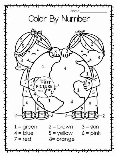 Earth Coloring Pages Recycling Worksheets Recycle Printable