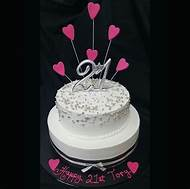Female 21st Birthday Cake Ideas