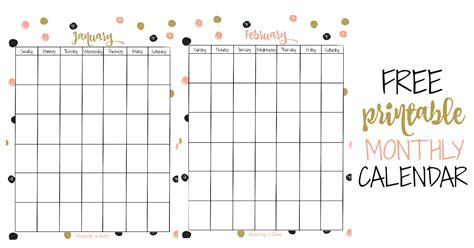 vertical printable monthly calendar keeping life sane