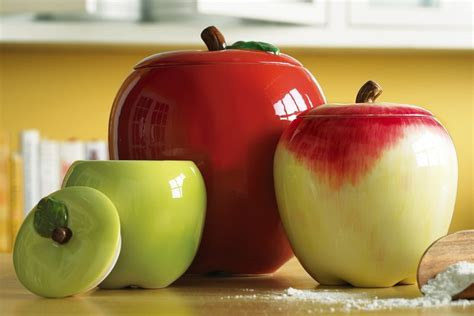 apple canisters for the kitchen 112 best canister sets images on pinterest country kitchens kitchens and rooster decor