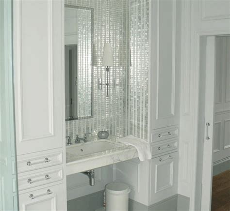 Bathroom Mosaic Mirror Tiles by Mirrored Mosaic Tiles Interior Design Inspiration