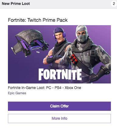 psxbox onepc fortnite twitch prime