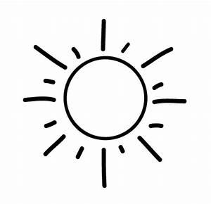 Kostenlose Malvorlage Geburtstag: Sonne zum Ausmalen zum
