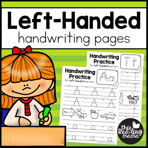 Lefthanded Handwriting Pages  This Reading Mama