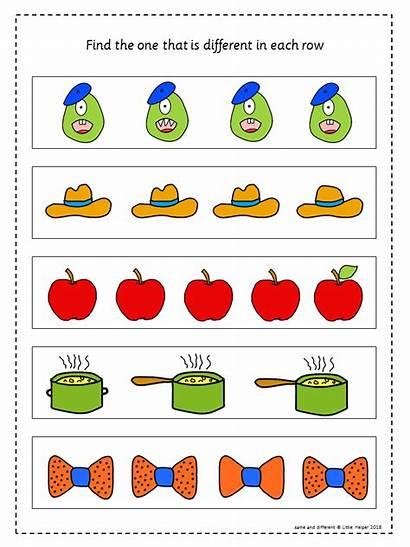Visual Discrimination Activities Preschool Different Children Worksheets
