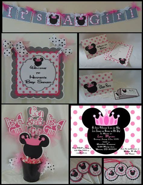 minnie mouse baby shower decorations minnie mouse baby shower package shower decorations