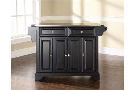 stainless steel top kitchen island lafayette stainless steel top kitchen island in black