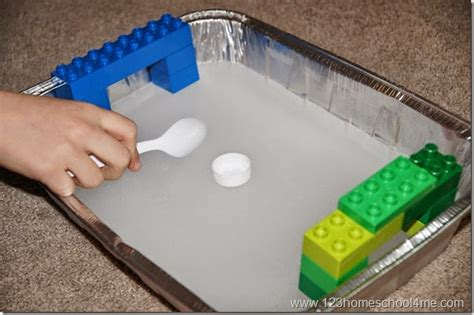 sports themed learning how wee learn 724 | Preschool sports theme ice hockey with lego goals
