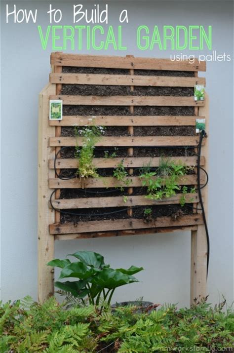 Vertical Gardens How To Build by How To Build A Vertical Garden Using Pallets