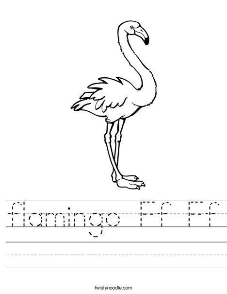flamingo ff ff worksheet letter  crafts zoo project