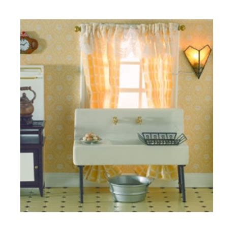 how to drain kitchen sink dolls house butlers sink with drain boards scale 1 12 7247
