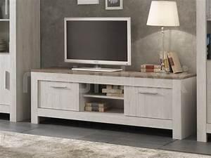 Meuble Chene Clair : meuble tv hifi paolo 2 portes ch ne clair ch ne blanchi ~ Edinachiropracticcenter.com Idées de Décoration