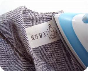 Back to school hand stamped clothing labels sew mama sew for How to sew labels on clothes