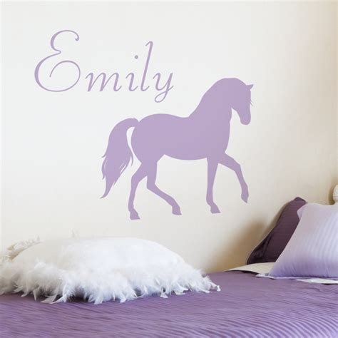 pretty horse personalized monogram wall decals stickers graphics