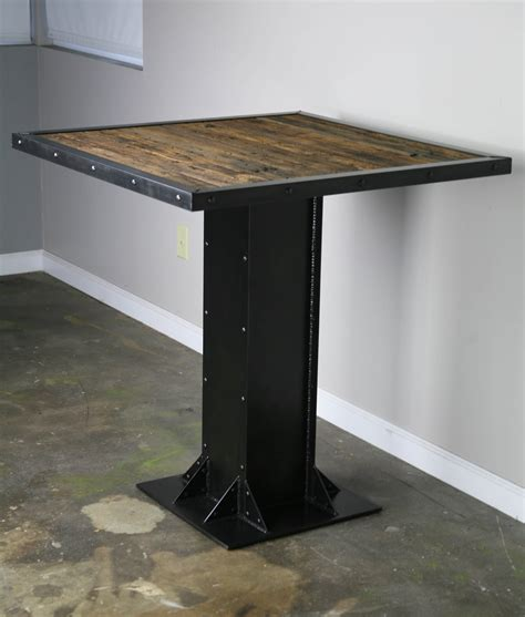 bar table cuisine combine 9 industrial furniture industrial bistro table