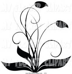Black and White Plant Clip Art
