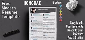 formatted resume hongdae modern resume template