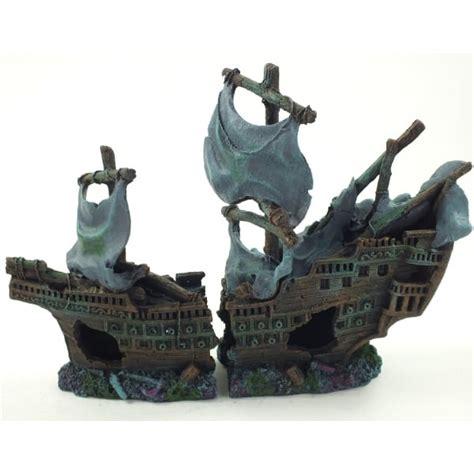 large aquarium ornaments uk large aquarium shipwreck boat ornament