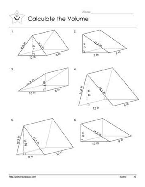 search results for finding volume of prisms worksheets