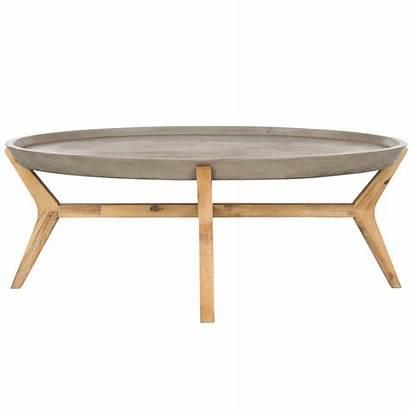 Concrete Coffee Table Oval Modern Outdoor Hadwin