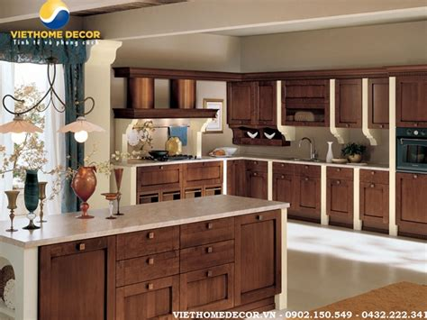 dep en cuisine các mẫu tủ bếp gỗ hương đẹp