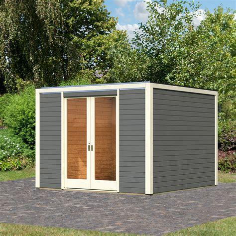 Karibu Gartenhaus Cubus Front, Terragrau  Von Gärtner