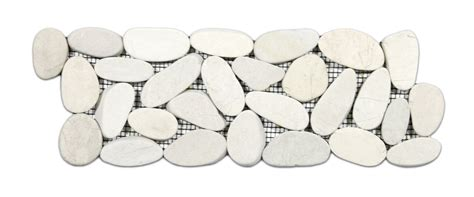 sliced pebble tile border cnk tile