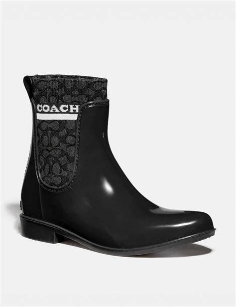 coach rivington rain bootie