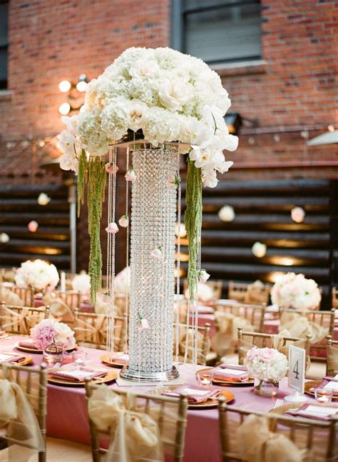 tall jeweled vases reception centerpieces weddings