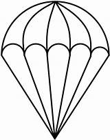 Parachute Drawing Coloring Template Clipart Sketch Pages Glass Stained Cliparts Outline Parachutes Paratrooper Patterns Templates Drawn Vector Clip Darryl Easy sketch template