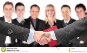 Free Partnership Agreement Contract Shaking Hands And Business Group Out Of Focus Royalty Free
