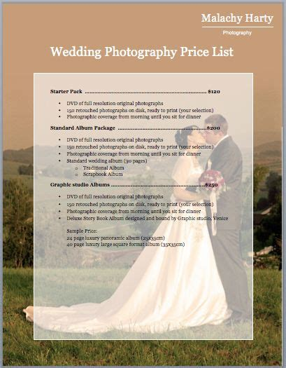 wedding photography pricing ideas  pinterest