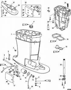 Mercury Mariner Racing 300xs  3 2l Dfi  Driveshaft Housing  U0026 Exhaust Tube Parts