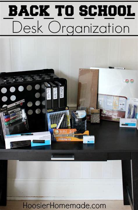 Back to School: Desk Organization   Hoosier Homemade