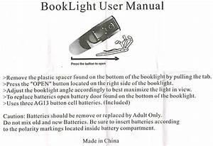 Booklightusermanual