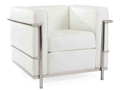 lc2 fauteuil le corbusier blanc