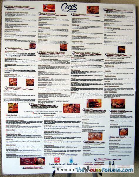 cocos menu prices
