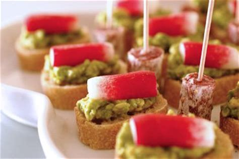 canapes dictionary avocado and radish canapés with smoked salt recipe