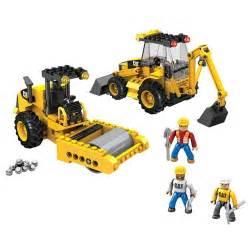 cat construction toys mega bloks caterpillar road building unit vehicle set