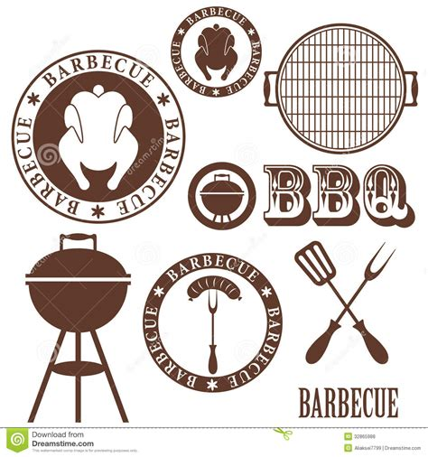 barbecue grill stock vector illustration  animal