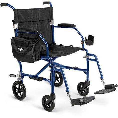 Transport Chair Walgreens by Medline Freedom 2 Transport Chair Blue 1ct Walmart