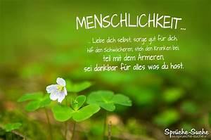 Bild Mit Spruch : menschlichkeit sch ner spruch f rs leben spr che suche ~ Markanthonyermac.com Haus und Dekorationen